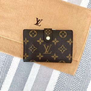 Louis Vuitton Wallet Kisslock Viennois Monogram
